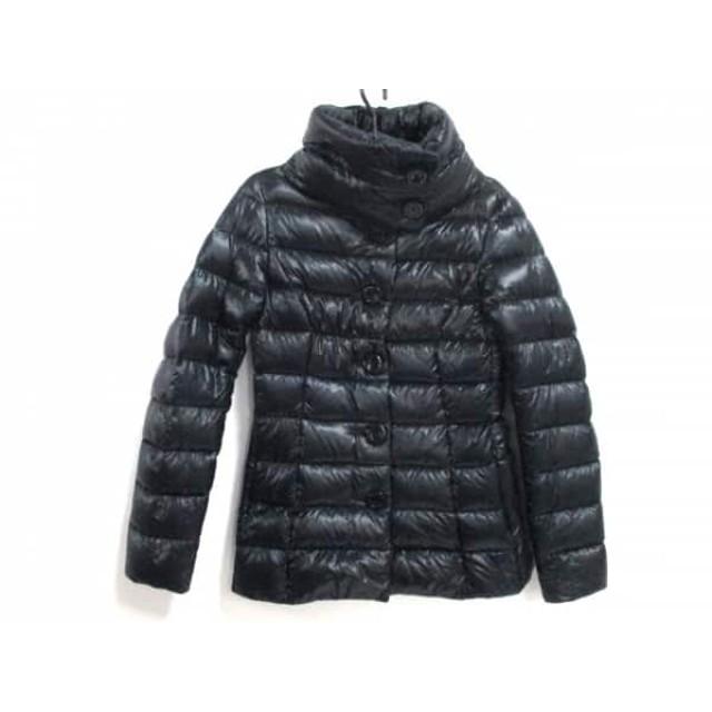 【中古】 ヘルノ HERNO ダウンジャケット サイズ40 M レディース 美品 PI0054D 黒 冬物
