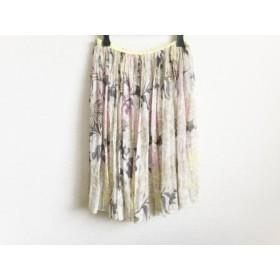 【中古】 ツモリチサト スカート サイズ2 M レディース ベージュ ライトブラウン マルチ シースルー