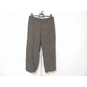 【中古】 ダーマコレクション DAMAcollection パンツ サイズ61-89 レディース 黒 白 千鳥格子