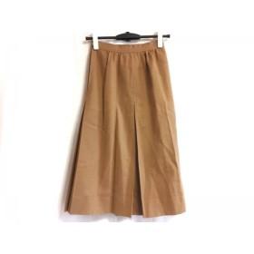【中古】 ジバンシー GIVENCHY スカート サイズ8 M レディース ライトブラウン ボックスプリーツ