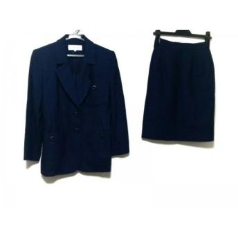 【中古】 イヴサンローラン スカートスーツ サイズ36 S レディース ダークネイビー ネイビー 肩パッド