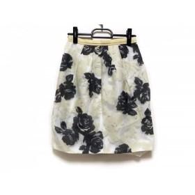 【中古】 ジャスグリッティー スカート サイズ0 XS レディース アイボリー イエロー ダークグレー 花柄