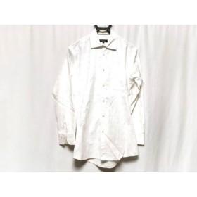 【中古】 バーバリーブラックレーベル Burberry Black Label 長袖シャツ サイズ39 メンズ 白 チェック柄