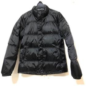 【中古】 ダンスウィズドラゴン ダウンジャケット サイズ2 M レディース 黒 ダークグレー マルチ