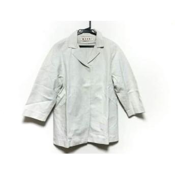 【中古】 マルニ MARNI ジャケット サイズ38 M メンズ アイボリー