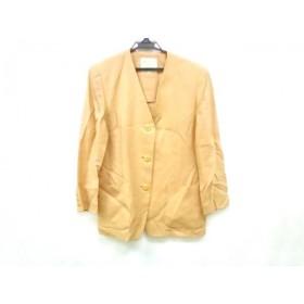 【中古】 バーバリーズ Burberry's ジャケット サイズ9AR S レディース ベージュ ノーカラー/肩パッド