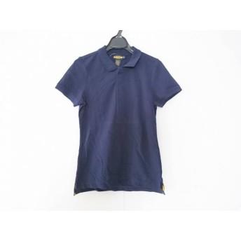 【中古】 ラルフローレンラグビー Ralph Lauren Rugby 半袖ポロシャツ サイズM レディース 美品 ネイビー