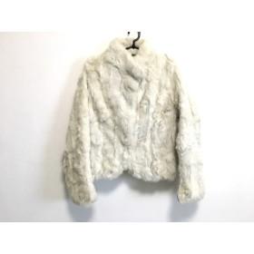 【中古】 クードシャンス コート サイズ38 M レディース 美品 アイボリー ショート丈/ファー/冬物