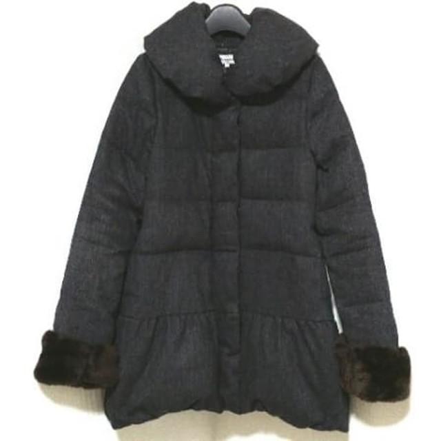 【中古】 リランドチュール Rirandture コート サイズ1 S レディース ダークグレー 冬物