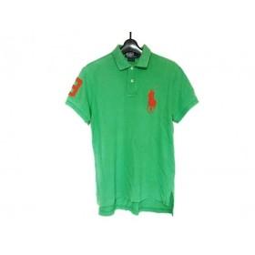 【中古】 ポロラルフローレン POLObyRalphLauren 半袖ポロシャツ メンズ ビッグポニー グリーン オレンジ