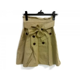 【中古】 アプワイザーリッシェ Apuweiser-riche ミニスカート サイズ0 XS レディース ベージュ