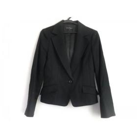 【中古】 インディビ INDIVI ジャケット サイズ38 M レディース 黒 肩パッド