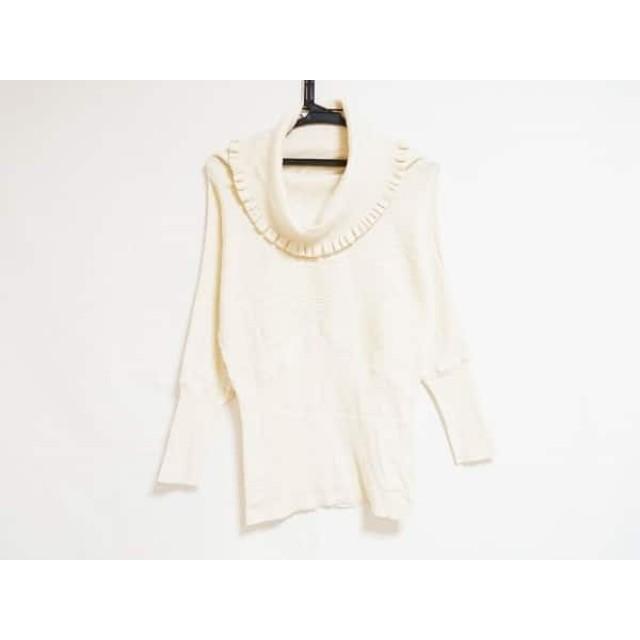 【中古】 トゥービーシック 長袖セーター サイズ2 M レディース 美品 アイボリー タートルネック