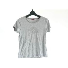 【中古】 アマカ AMACA 半袖Tシャツ サイズ38 M レディース グレー ラインストーン