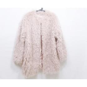 【中古】 マウジー moussy コート サイズ2 M レディース ピンク 冬物
