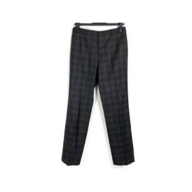 【中古】 レキップ ヨシエイナバ パンツ サイズ38 M レディース 黒 ダークグレー チェック柄