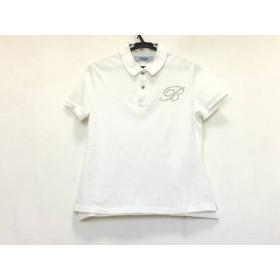 【中古】 ブルマリン BLUMARINE 半袖ポロシャツ サイズI 40D 34 レディース 白 スタッズ