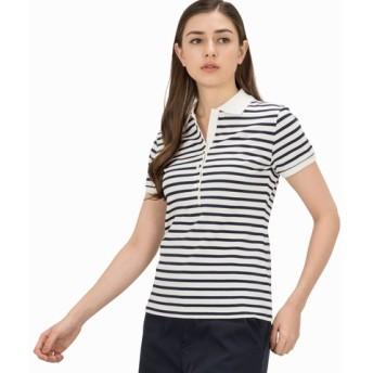 スリムフィット ボーダー ポロシャツ (半袖)