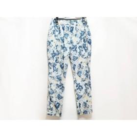 【中古】 ドロシーズ DRWCYS パンツ サイズ1 S レディース ブルー ネイビー アイボリー 花柄