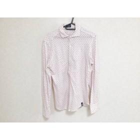 【中古】 ドルモア Drumohr 長袖シャツ サイズS S メンズ 白 ピンク