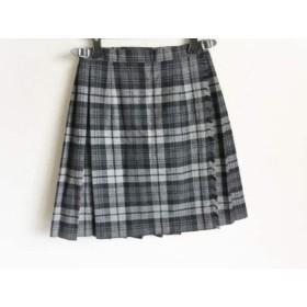【中古】 オニール O'NEIL 巻きスカート サイズ36 S レディース グレー ダークグレー 黒 チェック柄