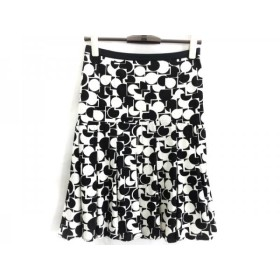 【中古】 マテリア MATERIA スカート サイズ36 S レディース 黒 白