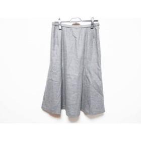 【中古】 レリアン Leilian スカート サイズ11 M レディース グレー
