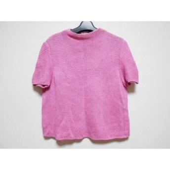 【中古】 レリアン Leilian 半袖セーター サイズ9 M レディース ピンク