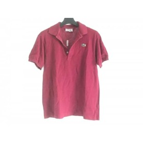 【中古】 ラコステ Lacoste 半袖ポロシャツ サイズ42 L レディース ボルドー
