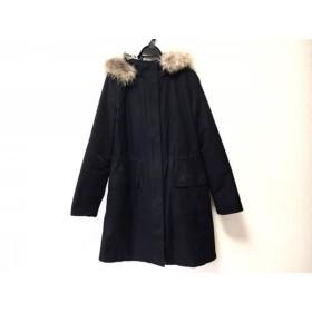 【中古】 インディビ INDIVI コート サイズ38 M レディース 黒 冬物/ジップアップ