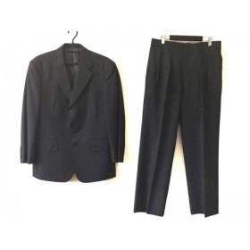 【中古】 ジェイプレス シングルスーツ メンズ ダークグレー ライトグレー チェック柄/ネーム刺繍