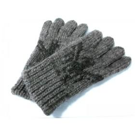 【中古】 ポロラルフローレン POLObyRalphLauren 手袋 メンズ ダークブラウン ウール