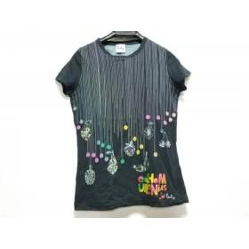 【中古】 ポールスミスプラス 半袖Tシャツ サイズM レディース ダークネイビー ライトブルー マルチ