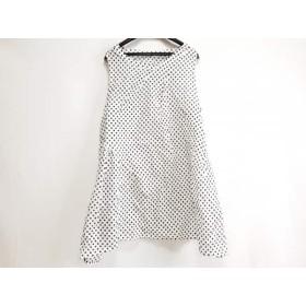【中古】 ジウ/センソユニコ 慈雨 ワンピース サイズ40 M レディース 美品 白 黒