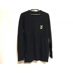【中古】 ヴェネルタ venerta 長袖セーター サイズ1 S メンズ ダークネイビー ゴールド シルバー