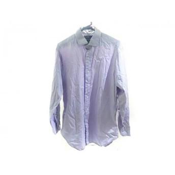 【中古】 ポロラルフローレン POLObyRalphLauren 長袖シャツ サイズ41-84 メンズ パープル