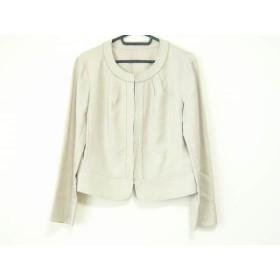 【中古】 ニジュウサンク ジャケット サイズ38 M レディース 美品 ベージュ Vingt-trois arrondissements
