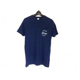 【中古】 デウスエクスマキナ DEUS EX MACHINA 半袖Tシャツ サイズXS メンズ ネイビー 白