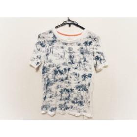 【中古】 トリーバーチ TORY BURCH 半袖Tシャツ サイズS レディース 白 ブルー