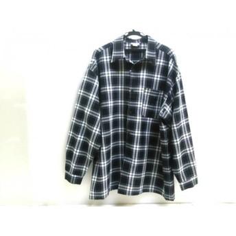 【中古】 ノーブランド 長袖シャツ サイズ2X メンズ ブラック ホワイト