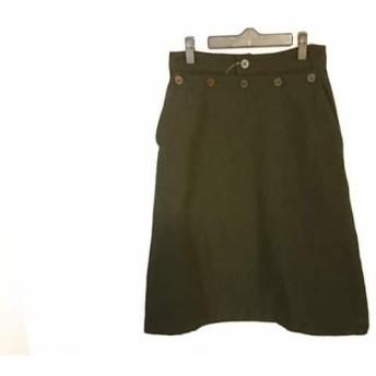 【中古】 ホームスパン homspun スカート サイズS レディース 黒