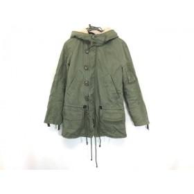 【中古】 ジルスチュアート JILL STUART コート サイズM レディース カーキ ジップアップ/冬物