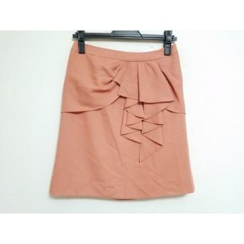 【中古】 ジャスグリッティー JUSGLITTY ミニスカート サイズ2 M レディース ピンクベージュ