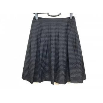 【中古】 ニジュウサンク スカート サイズ36 S レディース 美品 黒 Vingt-trois arrondissements/ボーダー