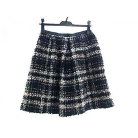 【中古】 ノーブランド スカート サイズ2 M レディース 黒 マルチ