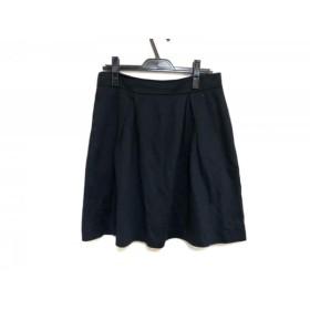 【中古】 ポールスミスブラック PaulSmith BLACK スカート サイズ42 L レディース 黒