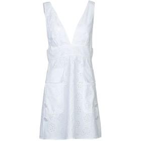 《期間限定 セール開催中》VALENTINO レディース ミニワンピース&ドレス ホワイト 40 コットン 84% / ポリエステル 16%
