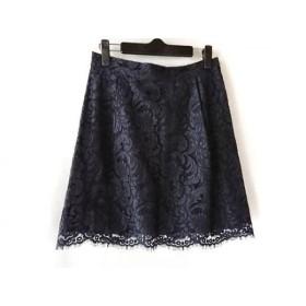 【中古】 ドゥロワー Drawer スカート サイズ38 M レディース ネイビー