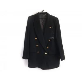 【中古】 バレンザポー VALENZA PO ジャケット サイズ38 M レディース 黒 ラインストーン