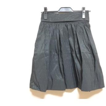 【中古】 フレイアイディー FRAY I.D スカート サイズ1 S レディース 美品 黒 グリーン ドット柄